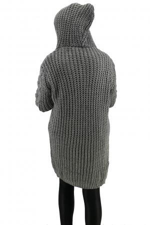 Cardigan din tricot cu gluga2
