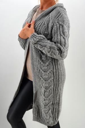 Cardigan din tricot cu gluga1
