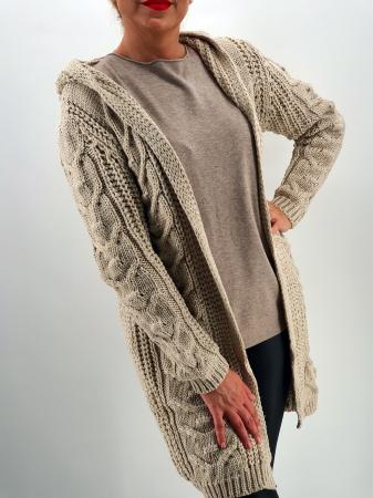 Cardigan din tricot cu gluga 20