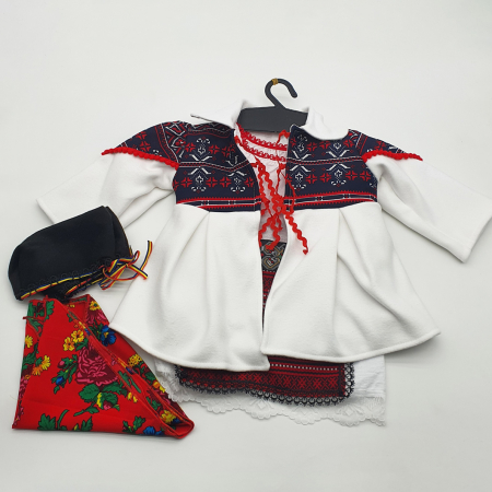 Costum traditional fetita - Palton/Rochita/Fota/Batic si Botosei0