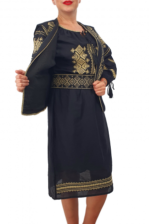 Costum Traditional - Vesta / Rochie / Brau cu model traditional1