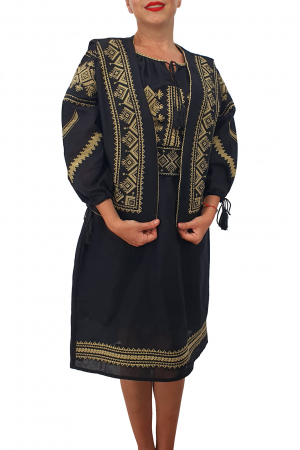 Costum Traditional - Vesta / Rochie / Brau cu model traditional2