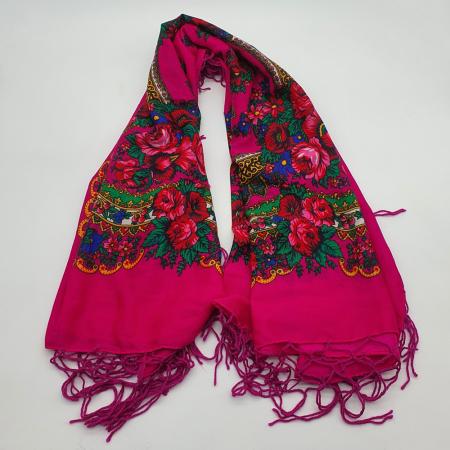 Batic etno mare - Imprimeu floral panza Albastra7