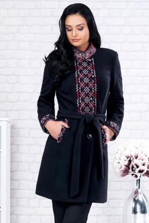 Palton negru cu motive traditionale Viorela0