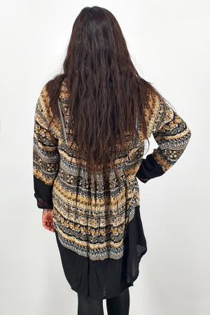Rochie/Bluza brodata cu imprimeu floral Oana 112