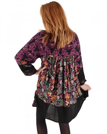 Rochie/Bluza brodata cu imprimeu floral Oana 32