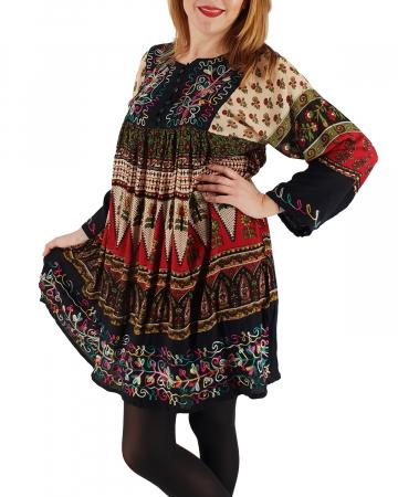 Rochie/Bluza brodata cu imprimeu floral Oana 41