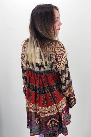 Rochie/Bluza brodata cu imprimeu floral Oana 6 [3]
