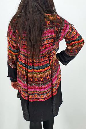 Rochie/Bluza brodata cu imprimeu floral Oana 94
