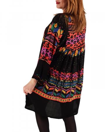 Rochie/Bluza brodata cu imprimeu floral Oana 22