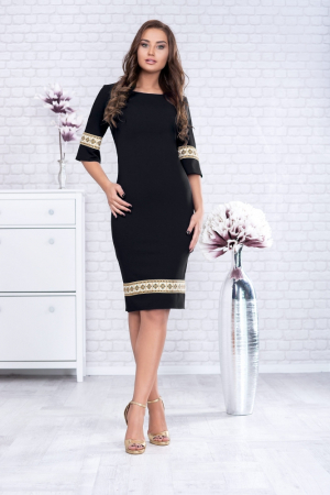 Rochie neagra cu motive traditionale - Rodica2