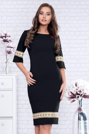 Rochie neagra cu motive traditionale - Rodica0
