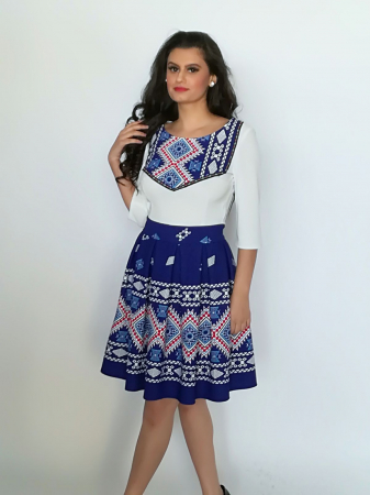Rochie Stilizata cu Motive Traditionale Sorana1