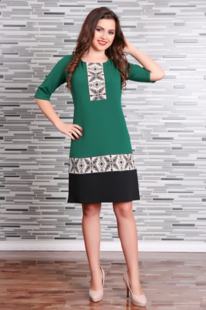 Rochie Stilizata cu Motive Traditionale Camila0