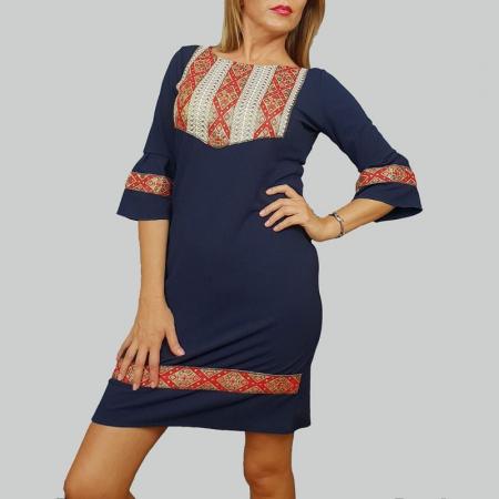 Rochie Stilizata cu Motive Traditionale Izabela 70