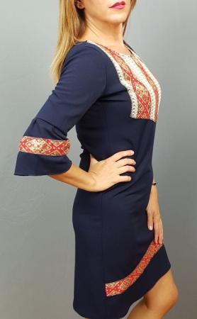 Rochie Stilizata cu Motive Traditionale Izabela 73