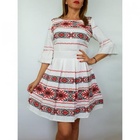Rochie stilizata cu motive traditionale Nicoleta 30