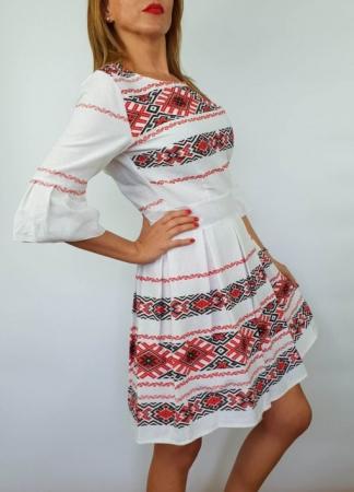Rochie stilizata cu motive traditionale Nicoleta 32