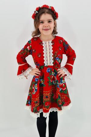 Rochita cu tematica florala de la 4 ani la 6 ani - 20