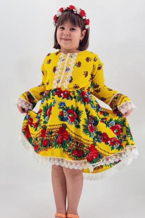 Rochita cu tematica florala de la 10 ani la 14 ani - Galben0