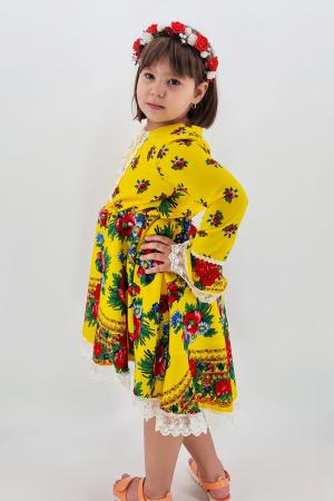 Rochita cu tematica florala de la 10 ani la 14 ani - Galben1