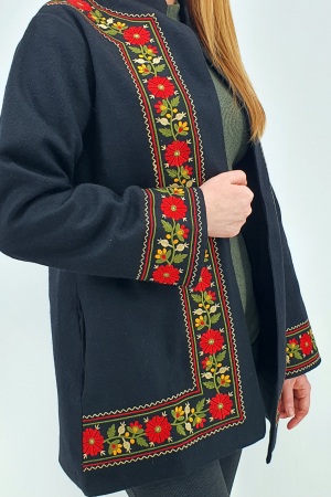Sacou/Pardesiu brodat cu motive traditionale 33
