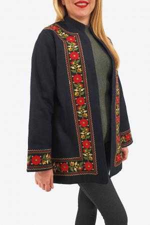 Sacou/Pardesiu brodat cu motive traditionale 31