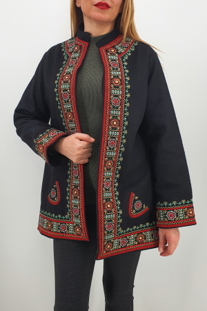 Sacou/Pardesiu brodat cu motive traditionale 41