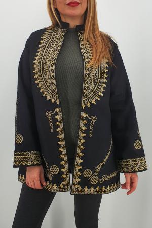 Sacou/Pardesiu brodat cu motive traditionale0