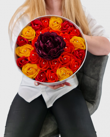 Set cadou – Trandafiri sapun – Raza de Soare2