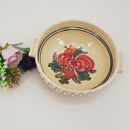 Castron traditional cu manere din ceramica de corund1