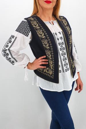 Vesta brodata cu model traditional Alina 21