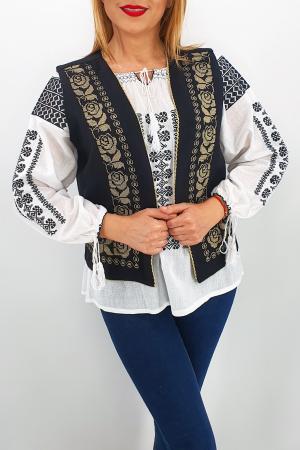 Vesta brodata cu model traditional Alina 22