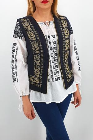 Vesta brodata cu model traditional Alina 20