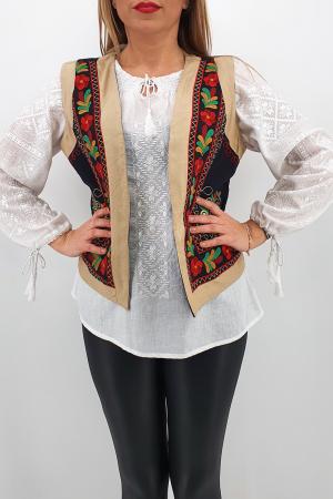 Vesta brodata cu model traditional Jenica 22