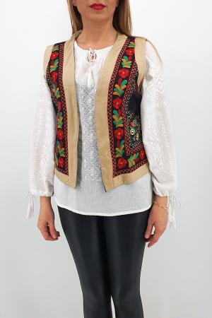 Vesta brodata cu model traditional Jenica 21