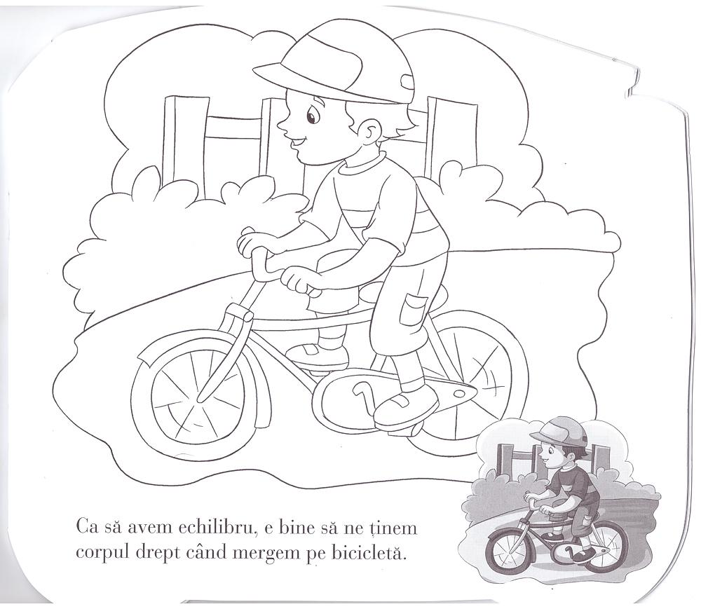 Lipeste Si Coloreaza Vehicule Bicicleta