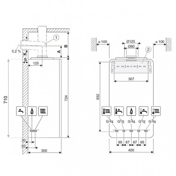 Centrala termica Buderus GB122 Logamax Plus KD H 1