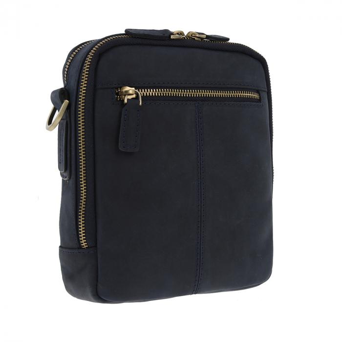 Borseta bleumarin din piele vintage, model de umar T5154, marca Tony Bellucci [3]