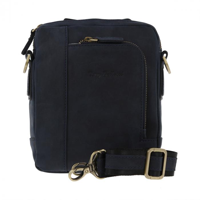 Borseta bleumarin din piele vintage, model de umar T5154, marca Tony Bellucci [0]