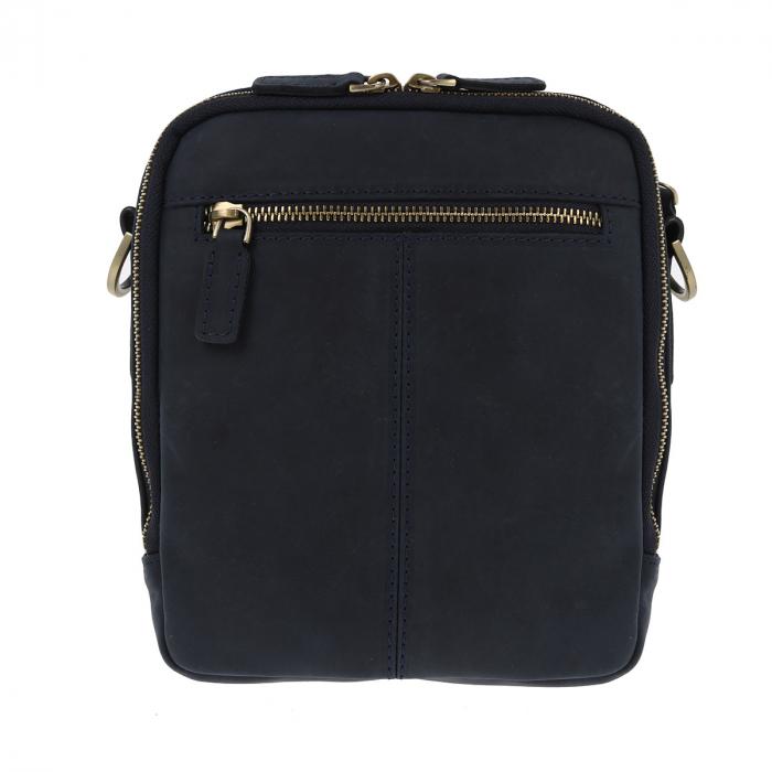 Borseta bleumarin din piele vintage, model de umar T5154, marca Tony Bellucci [4]