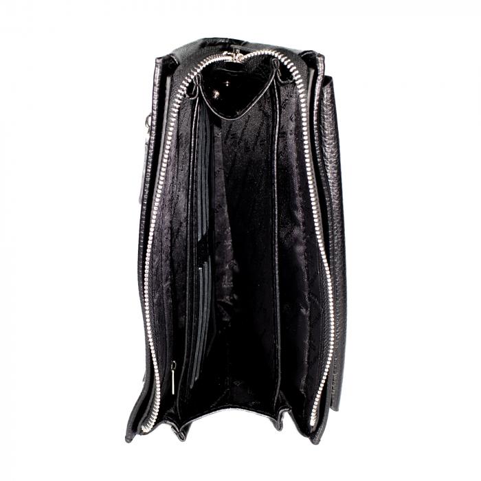 Borseta de barbati din piele naturala, de mana, Eminsa, model 5002, Negru [4]
