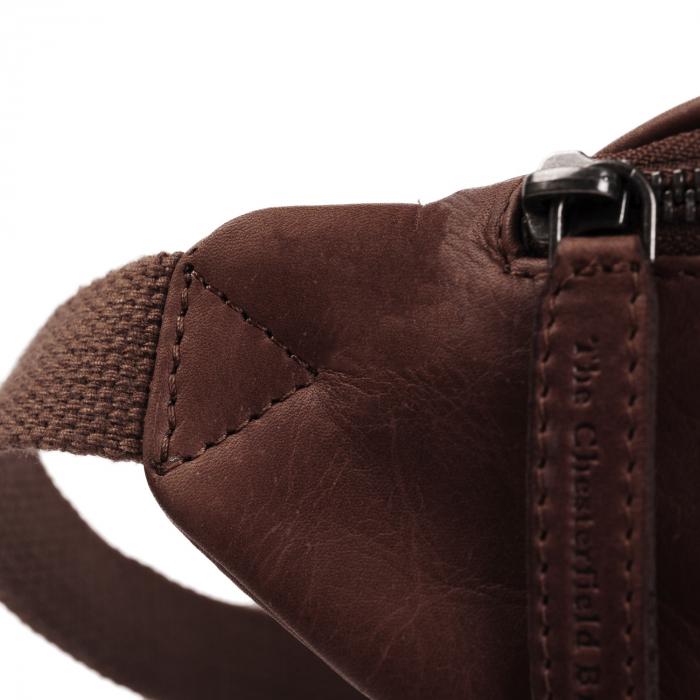 Borseta (marsupiu) de brau The Chesterfield Brand, din piele, model Eden, Maro inchis [4]