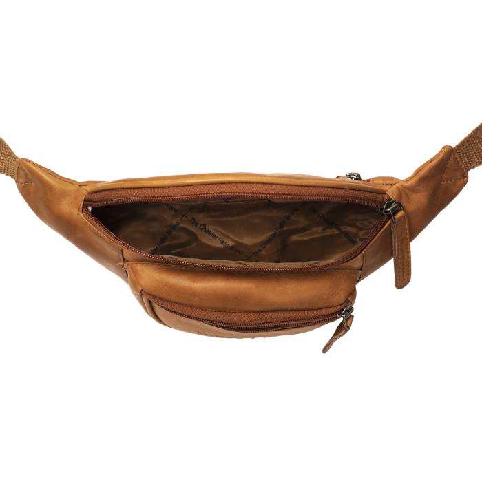 Borseta (marsupiu) de brau The Chesterfield Brand, din piele, model Jack, Maro coniac [2]