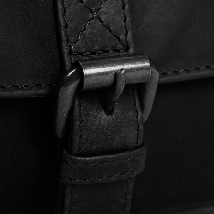 Borseta (marsupiu) de brau, unisex The Chesterfield Brand, din piele, model Jax, Negru [5]