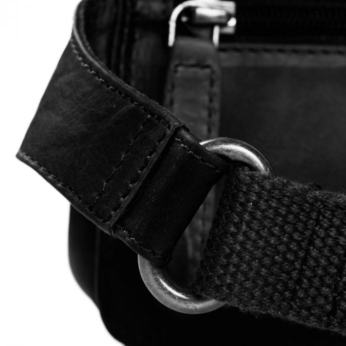 Borseta (marsupiu) de brau, unisex The Chesterfield Brand, din piele, model Jax, Negru [4]