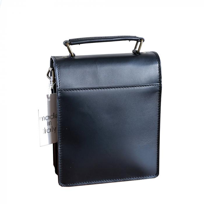 Borseta office din piele neagra model B101 [1]