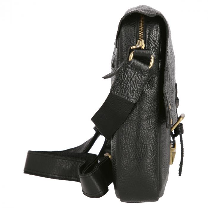 Borseta tip geanta de umar, din piele naturala neagra, model Tony Bellucci T5130 [1]