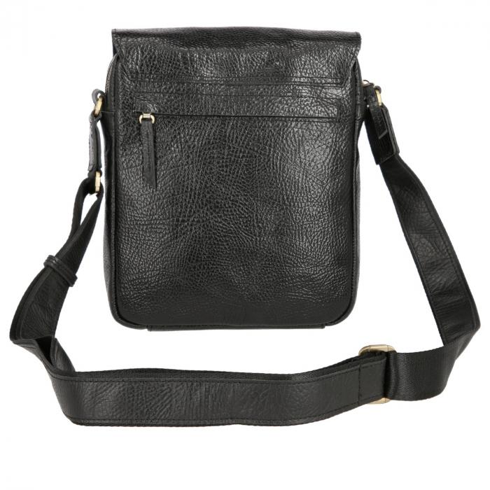 Borseta tip geanta de umar, din piele naturala neagra, model Tony Bellucci T5130 [5]