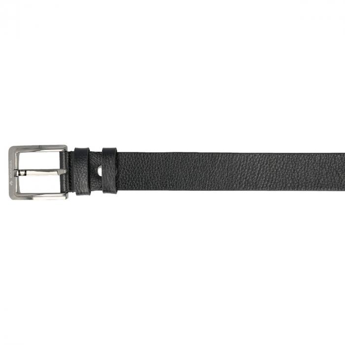 Curea lata pentru blugi din piele neagra, marca Eminsa, cu logo [2]